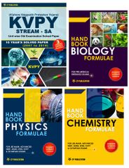 KVPY (Stream-SA) 10 Year Solved Papers (2007-2016) with 3 Practice Papers+ Handbook of PCB Formula (Set of 3 Books)