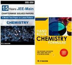 15 Years JEE Main Chemistry Chapterwise Solved Paper + Handbook of Chemistry Formulae