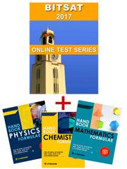 BIT-SAT - 2017 Major Online Test Series + PCM Formulae Handbook (Set of 3 Books) By Carrer Point