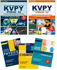 KVPY (Stream-SA & Stream-SX) Unit wise Old Examination Solved Paper with 3 Practice Papers + PCM Formuale (Set of 3 Books)