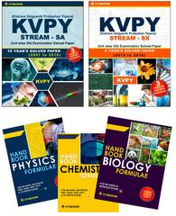 KVPY (Stream-SA & Stream-SX) Unit wise Old Examination Solved Paper with 3 Practice Papers + PCB Formuale (Set of 3 Books)