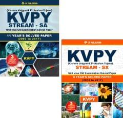New KVPY (Stream-SA & Stream-SX) Unit wise Old Examination Solved Paper with 3 Practice Papers + PCB Formuale (Set of 3 Books)