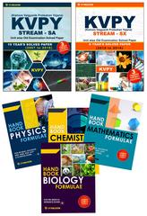 KVPY (Stream-SA & Stream-SX) Unit wise Old Examination Solved Paper with 3 Practice Papers + PCMB Formuale (Set of 4 Books)