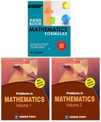 Problem in Maths (Set of 2 Books) + Maths Formulae For IIT-JEE (Main & Advanced) By Career Point Kota