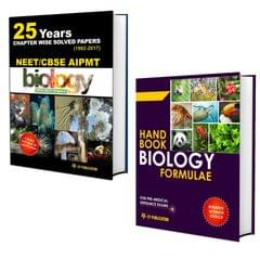 25 Years CBSE NEET & AIPMT Biology Chapterwise Solved Papers 1992-2017 With Biology Formulae Handbook