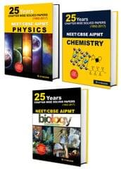 25 Years CBSE NEET & AIPMT PCB Chapterwise Solved Papers 1992-2017