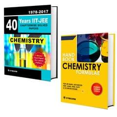 40 Years IIT-JEE Chemistry Chapter Wise Solved Papers (2017-1978) + Chemistry Formulae Book