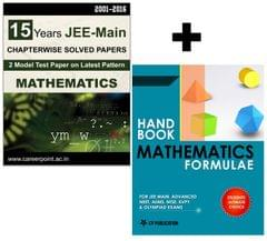 15 Years JEE Main Mathematics Chapter Wise Solved Papers (2016-2001) + Mathematics Formulae Book