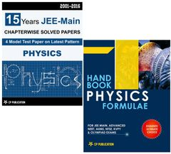 15 Years JEE Main Physics Chapter wise Solved Paper + Handbook of Physics Formulae