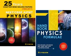 25 Yrs Old Chapterwise NEET-AIPMT Physics Solved Papers (1992-2016) + Physics Formule Book
