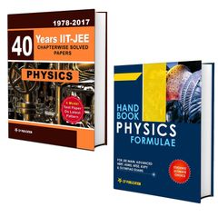 40 Years IIT-JEE Physics Chapter Wise Solved Papers (2017-1979) + Physics Formulae Book