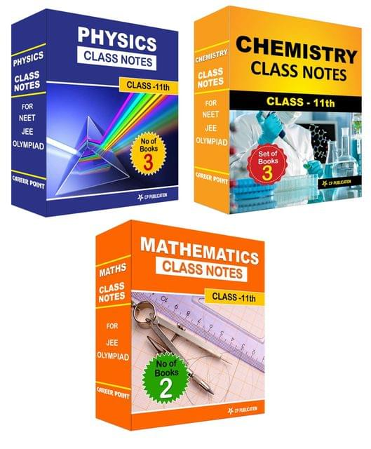 Class Notes 11th PCM (Set of 8 Volumes) For JEE/Olympiad