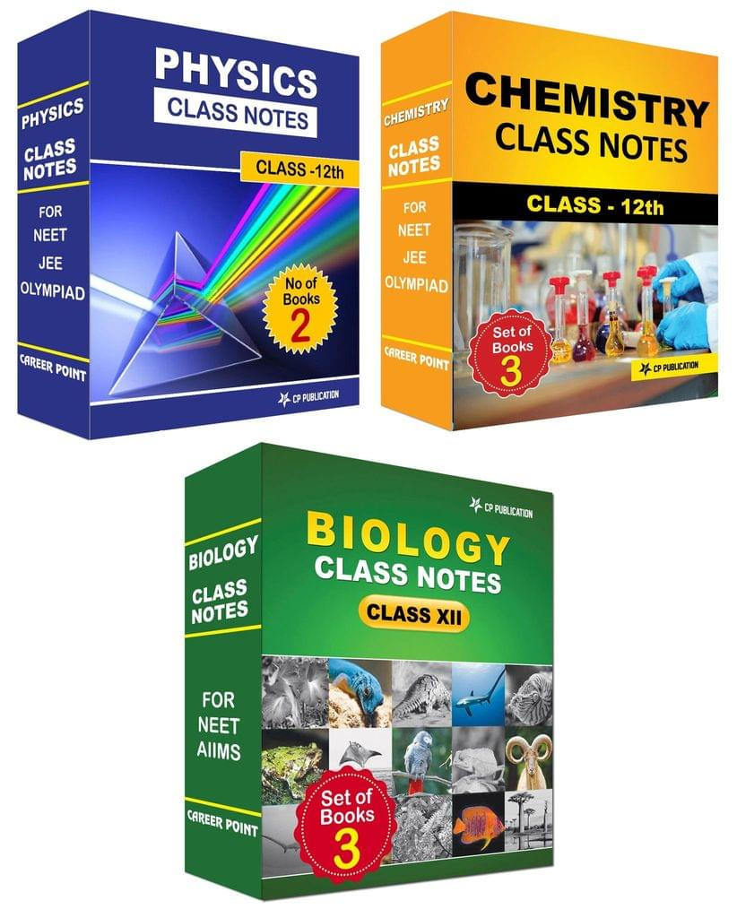 Class Notes For 12th PCB (Set of 9 Volumes) For NEET/AIIMS/Olympiad