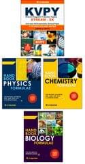 KVPY (Stream-SX) 8 Year Solved Papers (2010-2017) with 3 Practice Papers  + Handbook of PCB Formulae (Set of 3 Books)  By Career Point Kota
