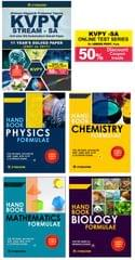 KVPY (Stream-SA) 11 Years Solved Paper (2007 to 2017) + 50% Discount on KVPY Online Test Series+ PCMB Formulae (Set of 4 Books) By Career Point Kota