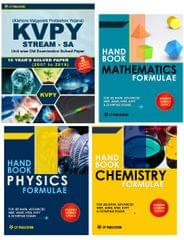 KVPY (Stream-SA) 9 Years Solved Paper (2007 to 2015) + PCM Formulae (Set of 3 Books) (KVPY + Physics Chemistry Maths Hand Book)