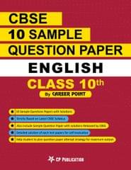 10th CBSE English: 10 Sample Questions Papers with solutions