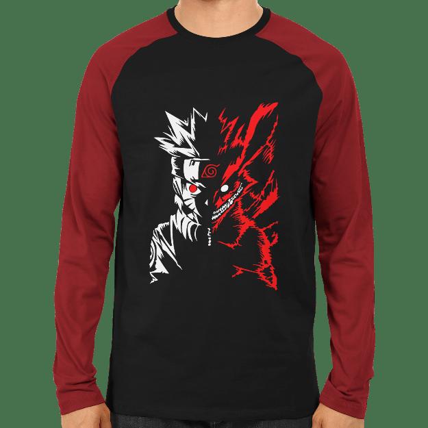 Naruto Ninetail Raglan