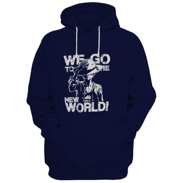 Md World Navy Blue Hoodie