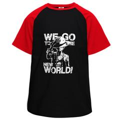 Monkey Lhe Luffy World Half Sleeve Raglan
