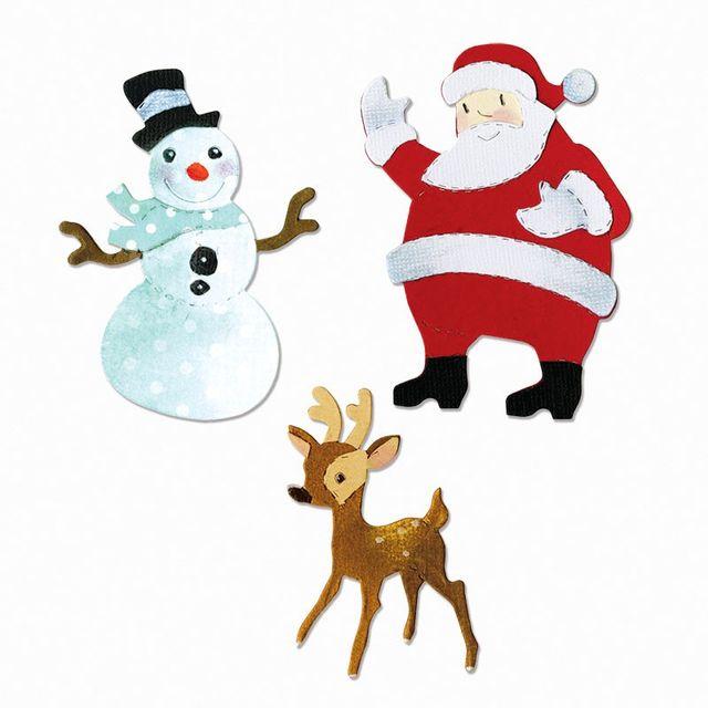 Sizzix Bigz Die - Reindeer, Santa & Snowman - A11011