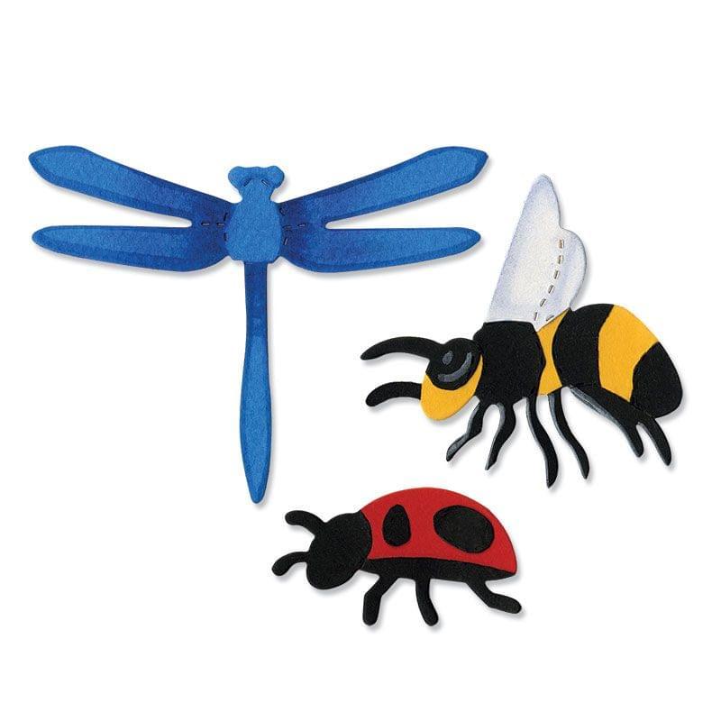 Sizzix Bigz Die - Bee, Dragonfly & Ladybug - A10739