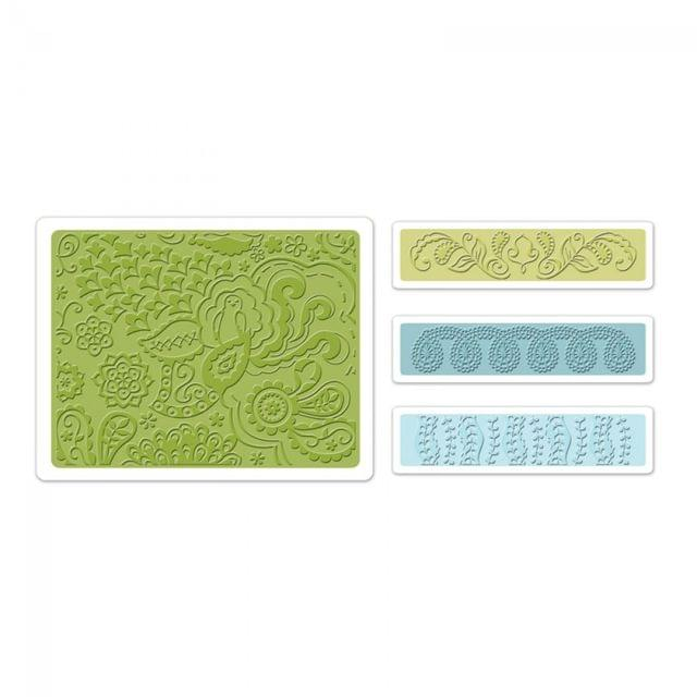 Sizzix Embossing Folders 4PK - Bohemian Botanicals Set Item - 657810