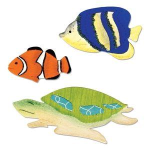 Sizzix Bigz Die - Angelfish, Clownfish & Sea Turtle - A11001
