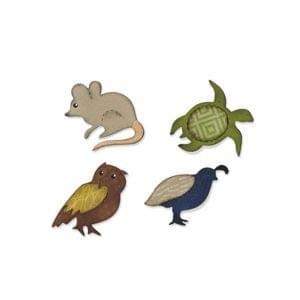 Sizzix Bigz Die - Mouse, Owl, Quail & Turtle - A10685