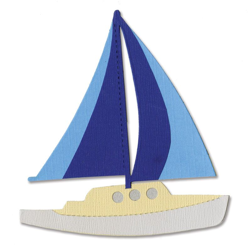Sizzix Bigz Die - Sailboat #2  - A10919