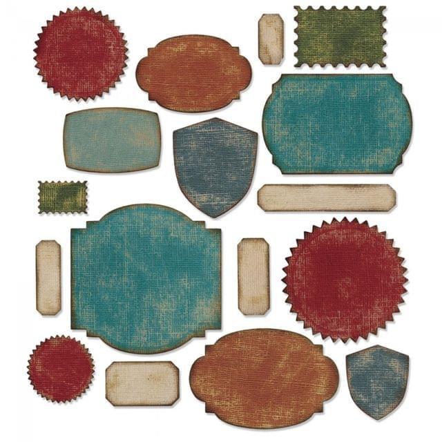 Sizzix Thinlits Die Set 17PK - Labels - 660060