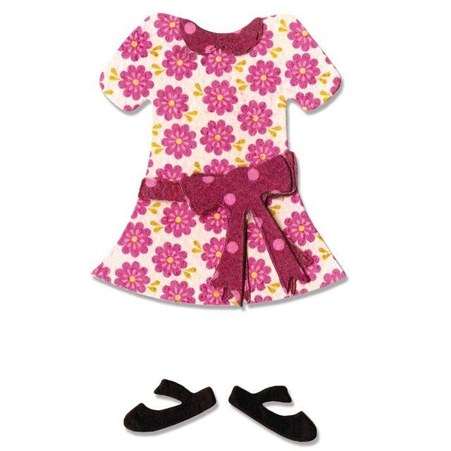 Sizzix Bigz Die - Boy or Girl Figure, Dress & Shoes - A10631