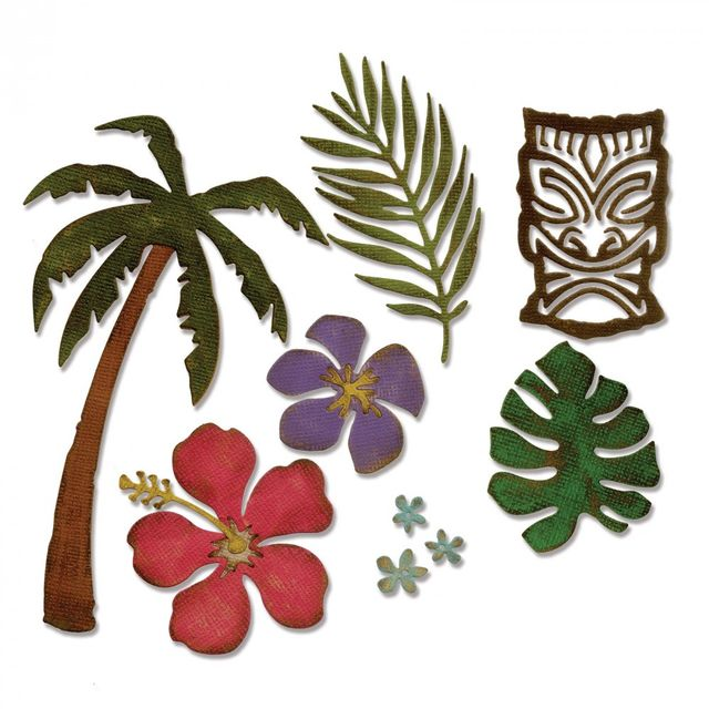 Sizzix Thinlits Die Set 8PK - Tropical- 661207