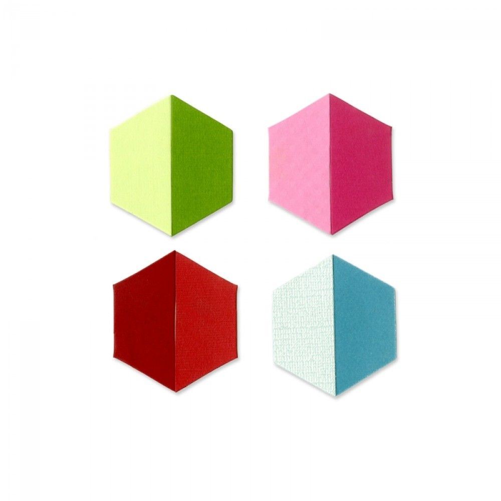 "Sizzix Bigz Die - Pattern Block Multiples 1"" Sides, Trapezoids 8-Up - A10364"