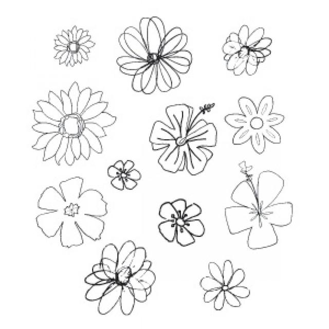 Sizzix Clear Stamps - Flowers, Spring Item - 655977