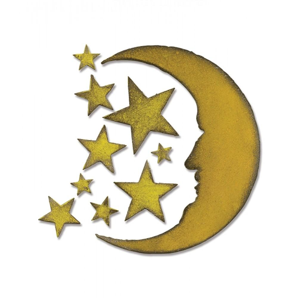 Sizzix Bigz Die - Crescent Moon & Stars - 658716