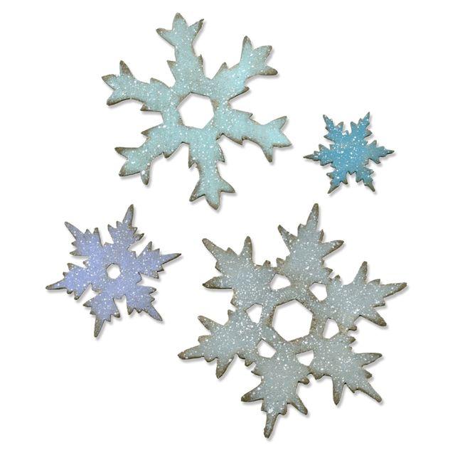 Sizzix Bigz L Die - Stacked Snowflakes - 660052