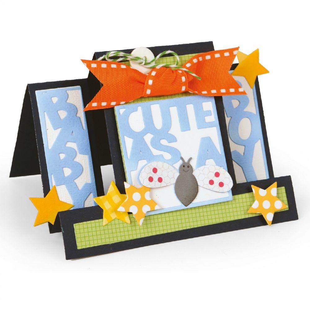 Sizzix Framelits Die Set 15PK - Card, Cute as a Bug Step-Ups - 660717