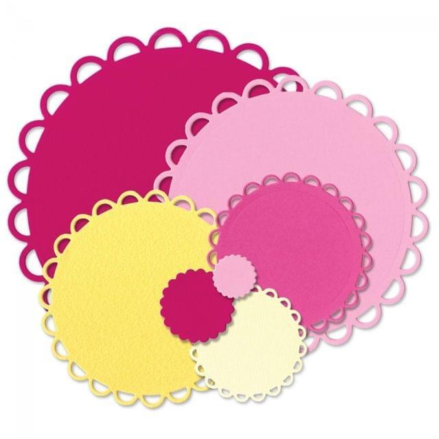 Sizzix Framelits Die Set 7PK - Circles, Scallop Item - 660021