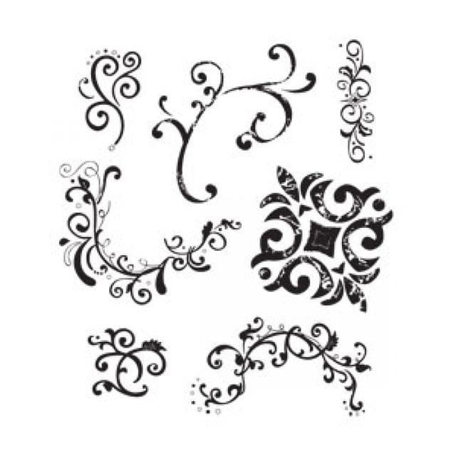 Sizzix Clear Stamps - Flourishes & Swirls Item - 656057