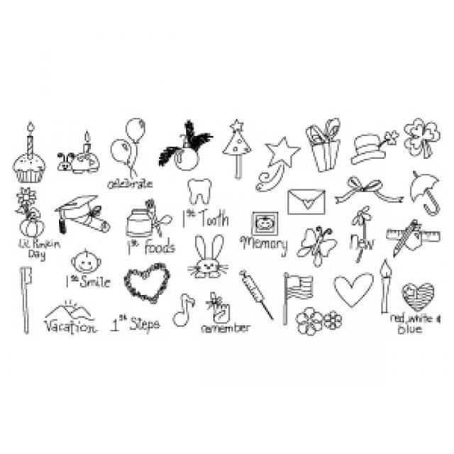 Sizzix Rub Ons - Calendar Icons  - 655493