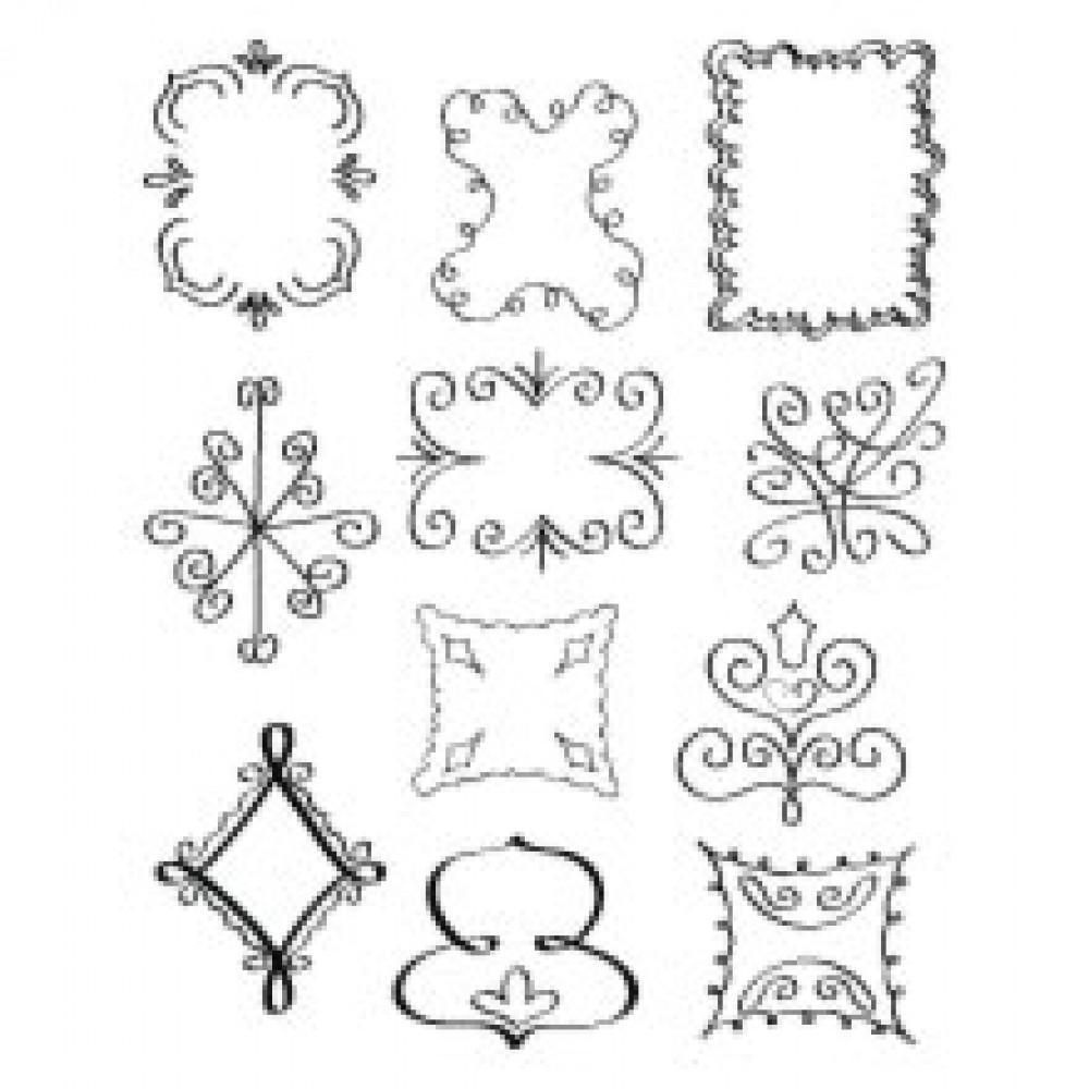 Sizzix Rub Ons - Background Shapes - 655079