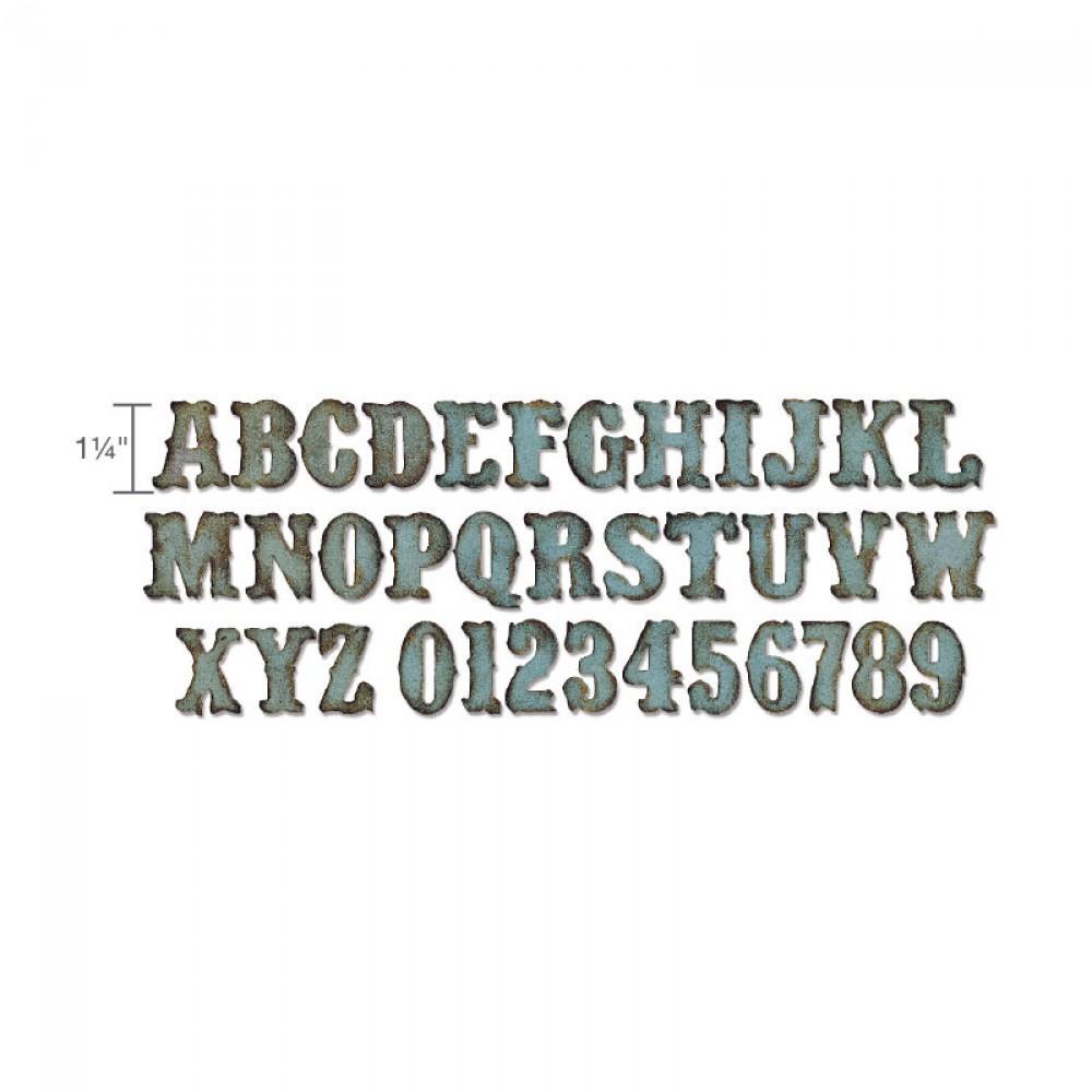 Sizzix Bigz XL Alphabet Die - Vintage Market - 658772