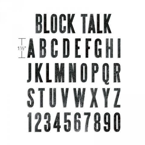 Sizzix Bigz XL Alphabet Die - Block Talk Capital - 658563