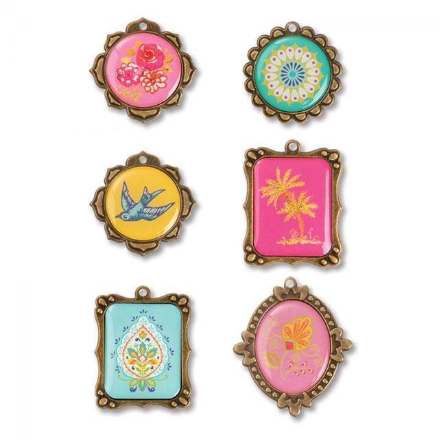 Sizzix Embellishments - Moroccan Metal Embellishments #3, 6 Pack - 658600