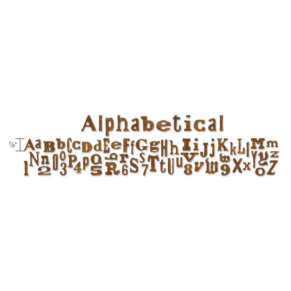 Sizzix Sizzlits Decorative Strip Alphabet Die - Alphabetical -  657482
