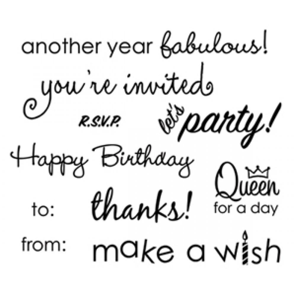 Sizzix Clear Stamps - Birthday Phrases - 656120