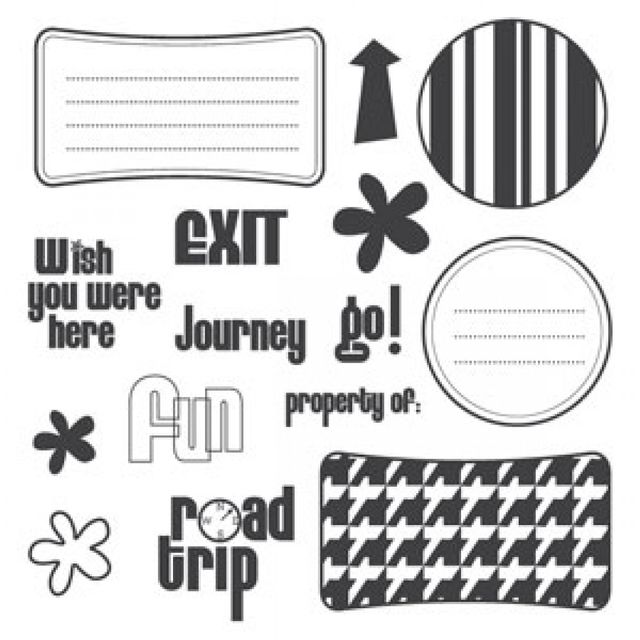 Sizzix Clear Stamps - Wish You Were Here Item - 656202
