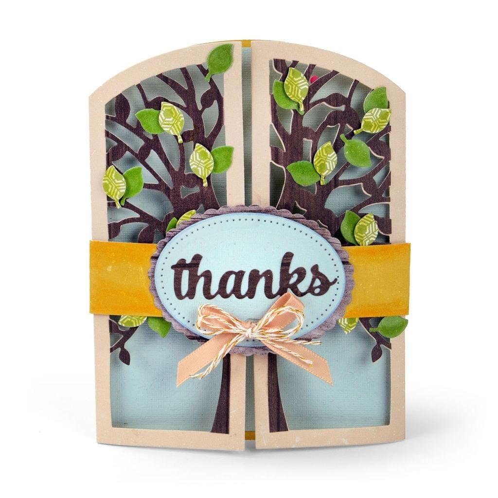 Sizzix Thinlits Die Set 15PK - Gatefold Card, Tree  - 661394