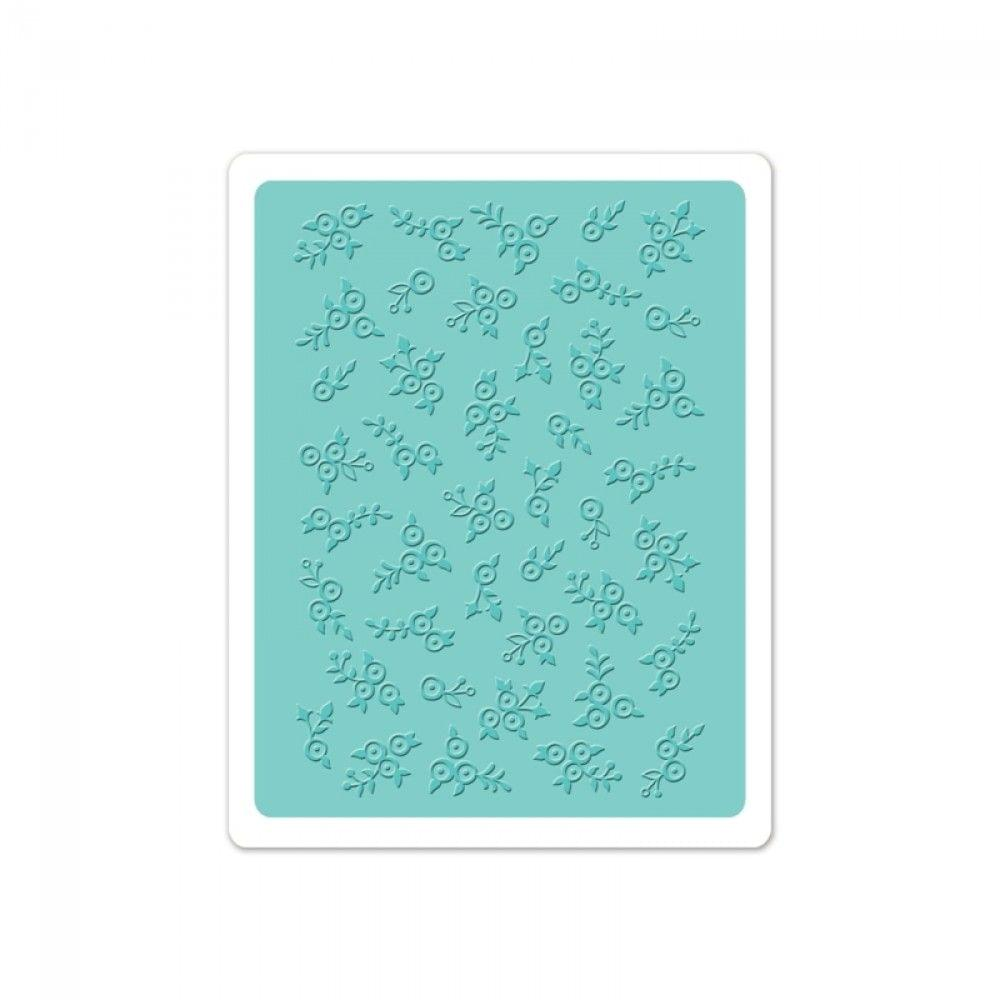 Sizzix Textured Impressions Embossing Folder - Lovely Flowers - 660377